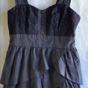 Anthropologie Dresses - Anthropologie Ally Navy Med. Dress Lace & Ruffles